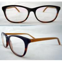 Quality Black And Yellow Hand Made Acetate Optical Frames With Demo Lens wholesale