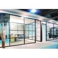 China Straight Shape Sliding Glass Partition Walls For Office / Conference Room on sale