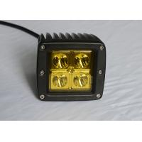 "Quality Yellow Lens Pods Vehicle LED Work Lights 2 x 2 3"" 16W For Marine / Jeep / Offroad wholesale"