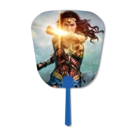 China Durable Custom Lenticular Printing , Round Shape 3D Advertising Handle Fan on sale