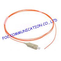 Quality SC OM1 900um 1 Meters LSZH fibre optic pigtails With Precision Ferrule For FTTX wholesale