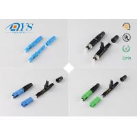 Quality Field Assembly Optical Fiber Connectors Free sample Field Assembly FTTH SC Fiber Optic Quick Connector wholesale