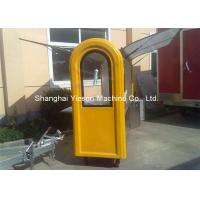 China Customized Stainless Steel Hot Dog Cart Moving Towable Snack Fast Food Kiosk on sale