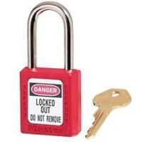 """Quality Master Padlock 410KARED 1-3/4"""" (4.4cm) tall,1-1/2"""" (3.8cm) shackle clearance, Keyed-Alike Safety Lockout Padlock Red wholesale"""