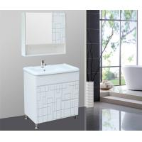 Quality Full Extension drawers single sink bathroom vanity cabinets 75 * 46 cm wholesale