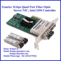 Quality 1G Quad Port Ethernet PCIe x4 Server Adapter, Intel I350-AM4 Gigabit Controller Server NIC wholesale