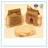 China Recycled Paper Soap Packaging Box Custom Printed With Closure String on sale