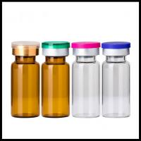 Quality 10ml Vials Empty Glass Cosmetic Bottles Rubber Stopper Sterile Serum Container wholesale