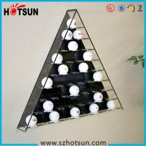 Quality Hot sale retail acrylic golf ball display case/golf ball display boxes/golf ball display rack wholesale