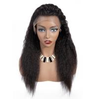 Quality 180 Density Full Lace Yaki Straight Human Hair Wigs For Black Women wholesale