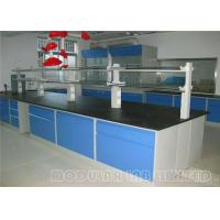 Quality Pedestal Type Modular Laboratory Furniture With Exhaust Hood / Science Lab Countertops wholesale