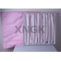 Quality Commercial Air Handler Air Filters , Hvac Bag Filters For Painting Factory Hospital Sterile Room wholesale