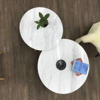 Quality Living Room Round Dining Tabletops Marble Stone Countertops With Metal Base wholesale