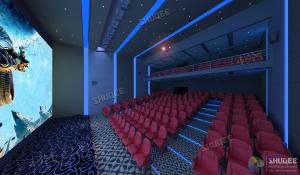 Quality International 50-120 People 3D Cinema With 120HZ Projector Silver Screen wholesale