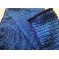 """China Ultra-Absorbent Blue Microfiber Kitchen Towels For Kitchen Cleaning 12"""" x 16"""" on sale"""
