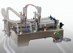 Quality Double Head 2500ml 75KG Semi Automatic Liquid Filling Machine Water Bottle wholesale