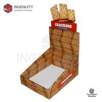 China Recycle cardboard display box for crackers CDU-TRAY-025,Food Display Counter,Coin Display Box on sale