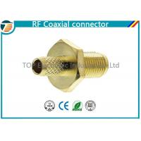 China Female Bulkhead Coaxial Connector  50 Ohms for 1.13mm / 1.32mm / 1.37mm Cable on sale