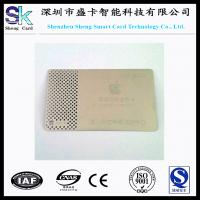 Buy cheap 2014 Newest Engraving Silver Metal Business Card from wholesalers