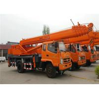 Quality 6 -8 Ton Hydraulic Truck Mounted Crane With 4 OutriggerTelescopic Boom 26M - 30M wholesale