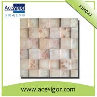 Quality Wooden mosaic tiles with tree rings for indoor wall decoration wholesale