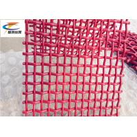 Quality Red High Tensile  Mining Screen Mesh , Double Crimp Sand Quarry Screen Mesh wholesale