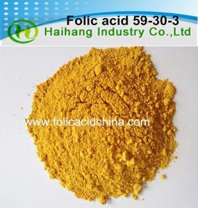 Quality Folic acid Vitamin B9 HPLC 97.0%min bulk use for dietary supplements wholesale