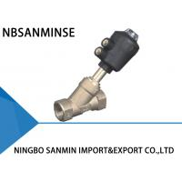 Buy cheap Gunmetal Pneumatic Angle Seat Valve 1 / 2  Inch 3 / 4 Inch High Performance from wholesalers