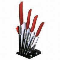 Quality Kitchen Knife Set with Ceramic Blades and ABS/TPR Handle wholesale