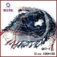 Quality Fashionable Checked Polyester Square Scarf (Q07-1) wholesale