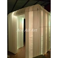 Quality Ace Air Art  new style white fabric  led lighting inflatable photo booth enclosure  with logo to USA wholesale
