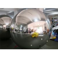 China PVC Silver Color Inflatable mirror ball With D Rings on sale