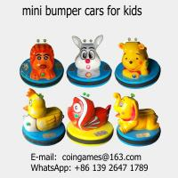 Quality 2018 New Amusement Park Equipment Kids Coin Operated Arcade Game Machine Children Mini Animal Battery Bumper Cars wholesale