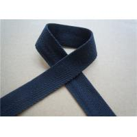 Quality Blue Printed Elastic Webbing Straps Single Fold 2 Cm Width For Bags wholesale