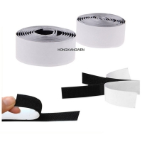 China 25mm black nylon Double Sided Self Adhesive 25m/Roll Hook And Loop Tape SGS on sale