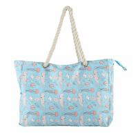 Quality Medium Polyester Beach Bag Tote Portable Travel Extra Large Lightweight wholesale