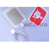 China Self Adhesive AED Defibrillator Pads / Pediatric Defibrillation Pads For Training on sale