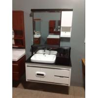 Cheap Round Type Floating Bathroom Vanities with top 15mm pvc panel zince alloy handel for sale