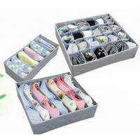 Cheap 3PCS Underwear Bra Socks Ties Divider Closet Container Storage Box Organizer Set for sale