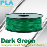 Quality OEM Biodegradable PLA  1.75 / 3.0 mm 3D Printer Filaments ( Dark Green ) wholesale