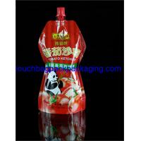 China Custom printed stand Spout pouches for juice beverage sauce ketchup 320 g on sale