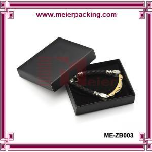 China Euro popular black coated paper jewelry gift box/Men bracelet paper box ME-ZB003 on sale
