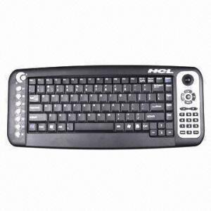 Quality Wireless RF Trackball Multimedia Keyboard wholesale