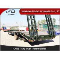 China Semi Low Bed Trailer Truck 4 Axles 120 Tons , Heavy Duty Utility Trailer with BPW axle on sale