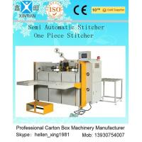 Quality High Speed Semi Automatic Carton Folding and Stitching Machine 400nails/min wholesale