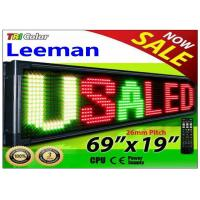 China Outdoor Programmable LED Signs Multi Language , Wireless LED Scrolling Message Display Board on sale