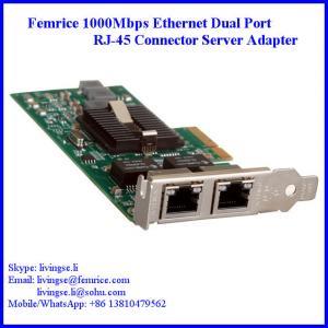 Quality 1G Dual Port Gigabit Server Ethernet Network Card, RJ-45 Connector, Femrice 10002ET wholesale
