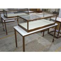 Quality Simple Design Glass Jewelry Case / Retail Display Cases Hidden LED Strip Lights wholesale
