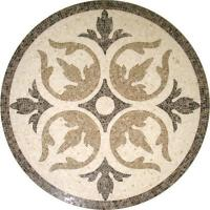 Quality Solid Surface Marble Medallion Floor Tile , Decorative Custom Floor Medallions wholesale