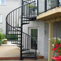 Quality Escape fire spiral staircase , wrought iron spiral stairs , hot galvanized spiral stair wholesale